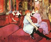 Salon at the Rue des Moulins Henri de toulouse-lautrec